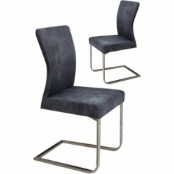 Lot de 2 chaises cantilever...