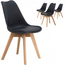 Lot de 4 chaises scandinave...