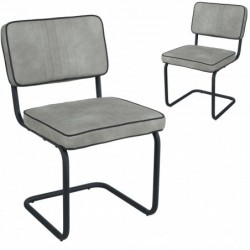 Lot de 2 chaises moderne en...