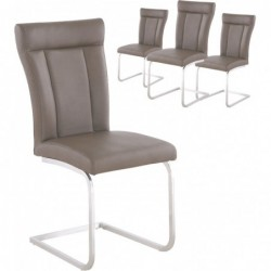 Lot de 4 chaises cantilever...